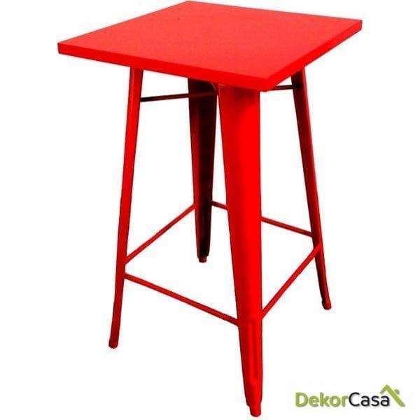 mesa alta tolix roja