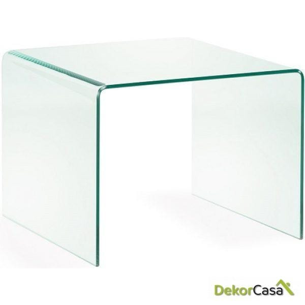 MESA AUXILIAR BURANO Cristal Transparente