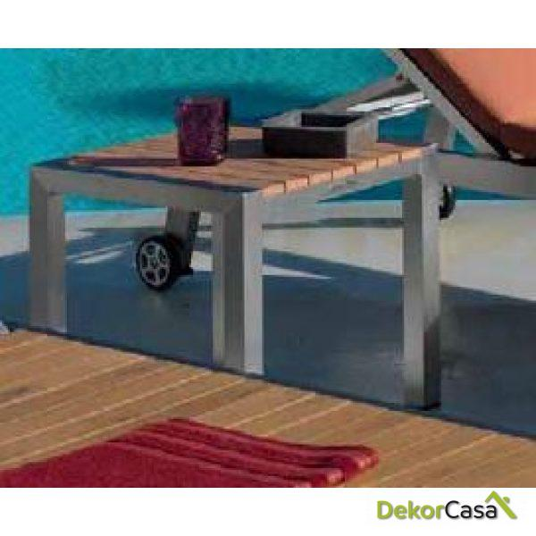 Mesa auxiliar de terraza Algaida 45 x 45 x 45 cm