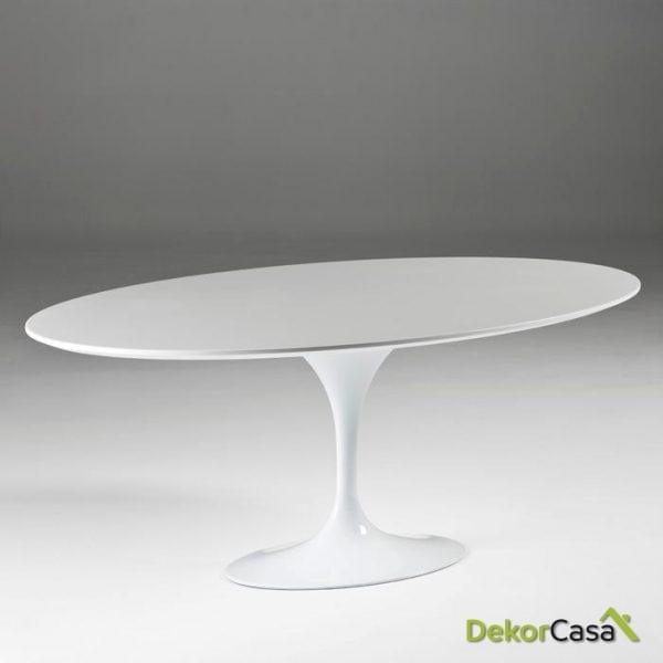 Mesa Comedor althea Aluminio/DM Blanco 200x120x75 cm
