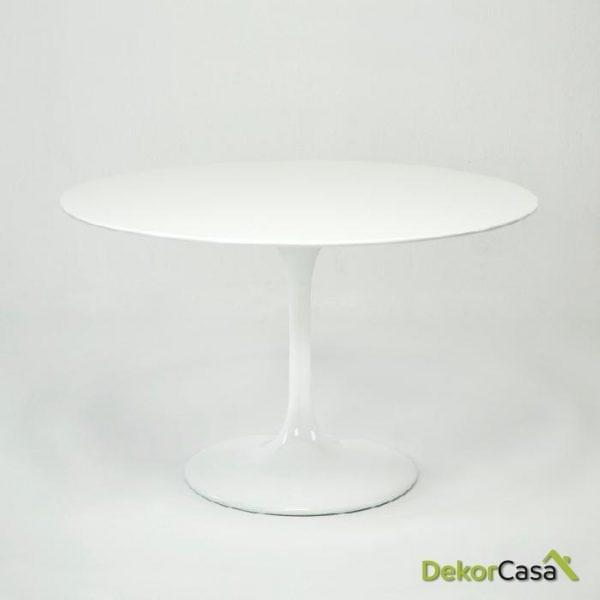 Mesa Comedor imagine Fibra de Vidrio Blanco 120x75 cm