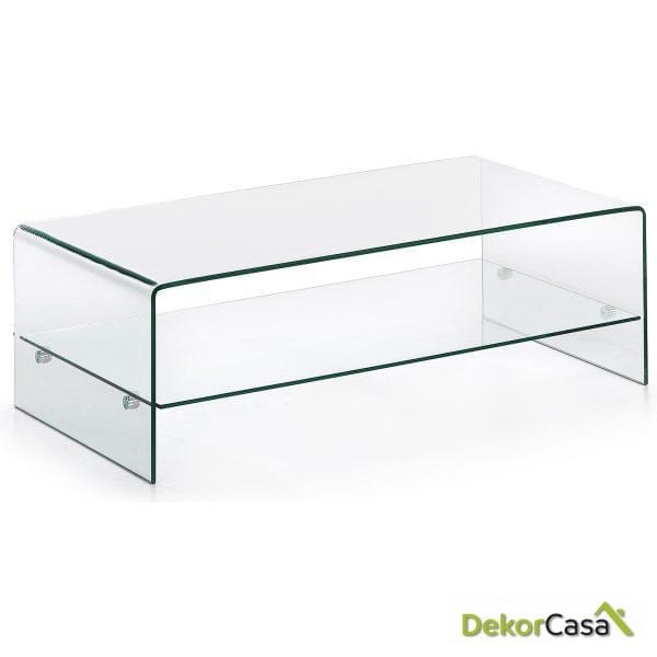 MESA DE CENTRO BURANO Cristal Transparente
