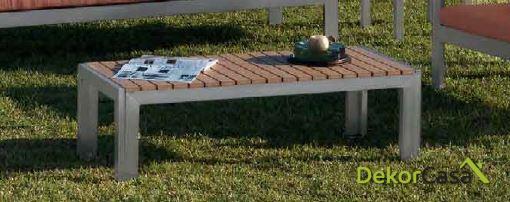 Mesa de centro de terraza 120 x 50 x 36 cm