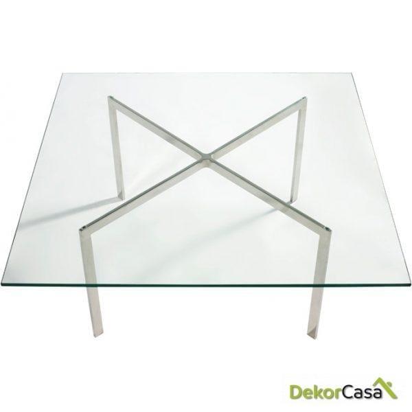 Mesa de Centro Mies van der Rohe 90x90 cm.