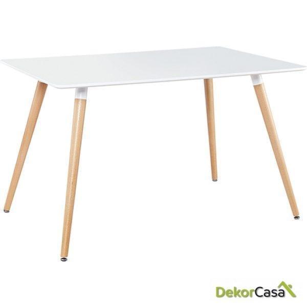 Mesa de comedor blanca 120x80x75cm RT-903