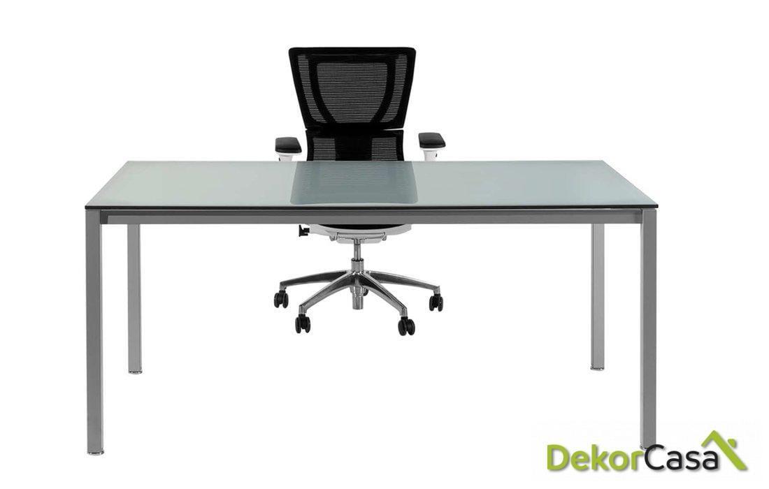 Mesa de despacho rectangular de cristal Euro 5100