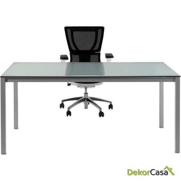 Mesa de despacho rectangular melamina con cristal Euro 5100