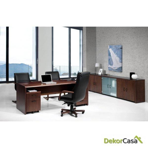 Mesa de dirección rectangular 160 x 82 x 74 cm Cala