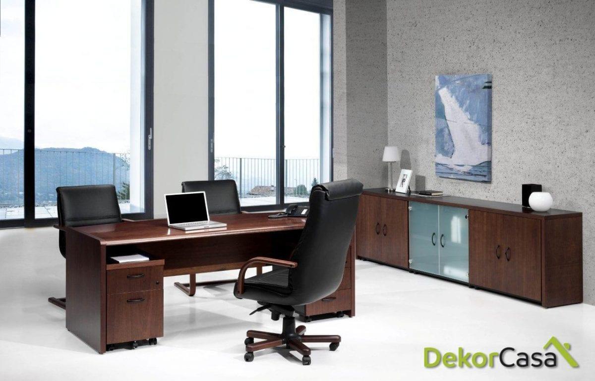Mesa de dirección rectangular 160 x 82 x 74 cm Cala Duo
