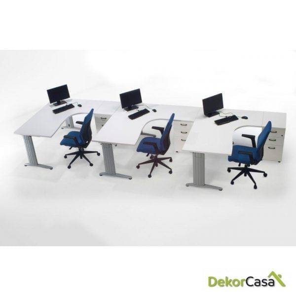 Mesa de oficina punto informático derecha Euro 4000
