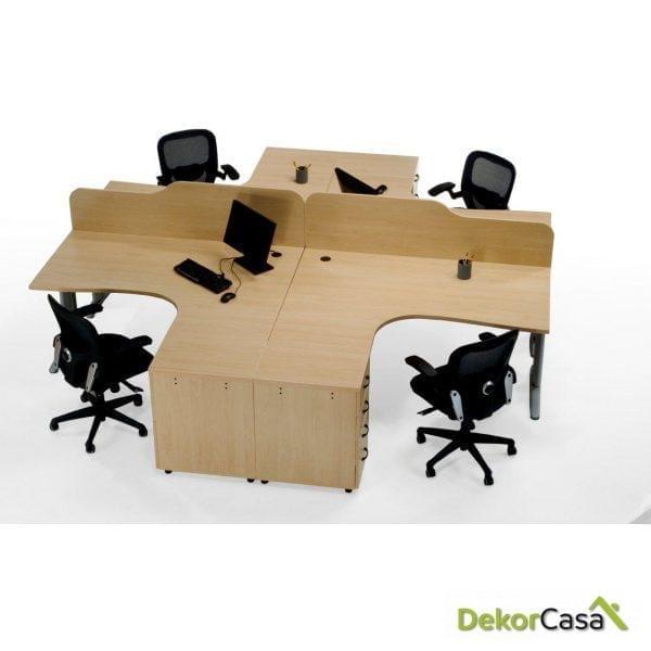 Mesa de oficina punto informático izquierda Euro 3000