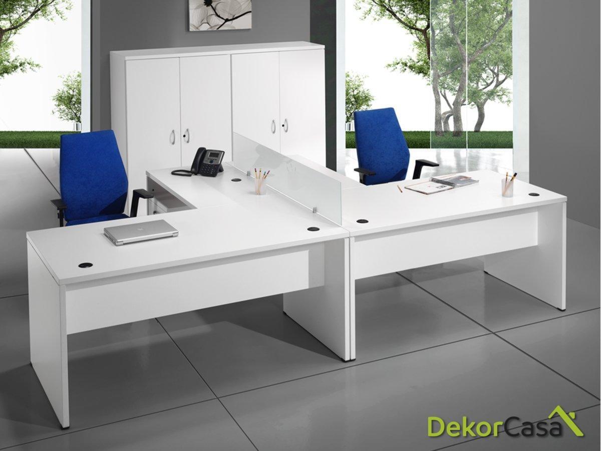 Mesa de oficina rectangular Euro 2000