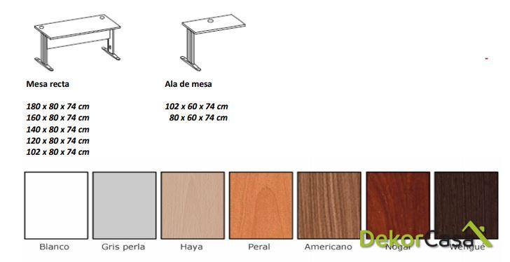 mesa de oficina rectangular euro 3000 1