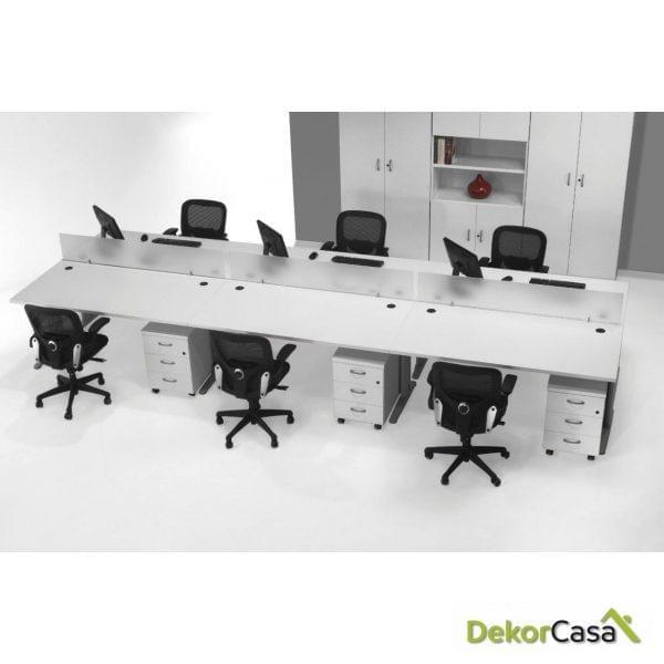 Mesa de oficina rectangular Euro 4000
