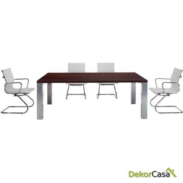 Mesa de reunión rectangular Senda