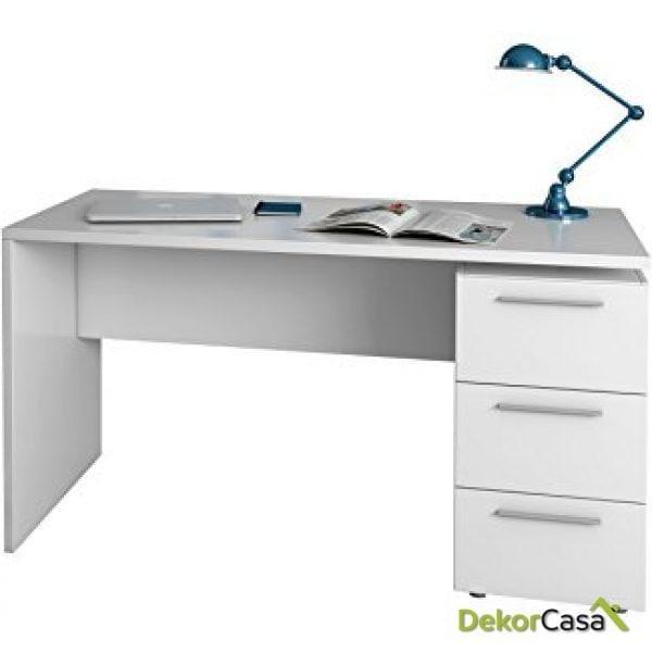 Mesa despacho 3 Cajones Blanco