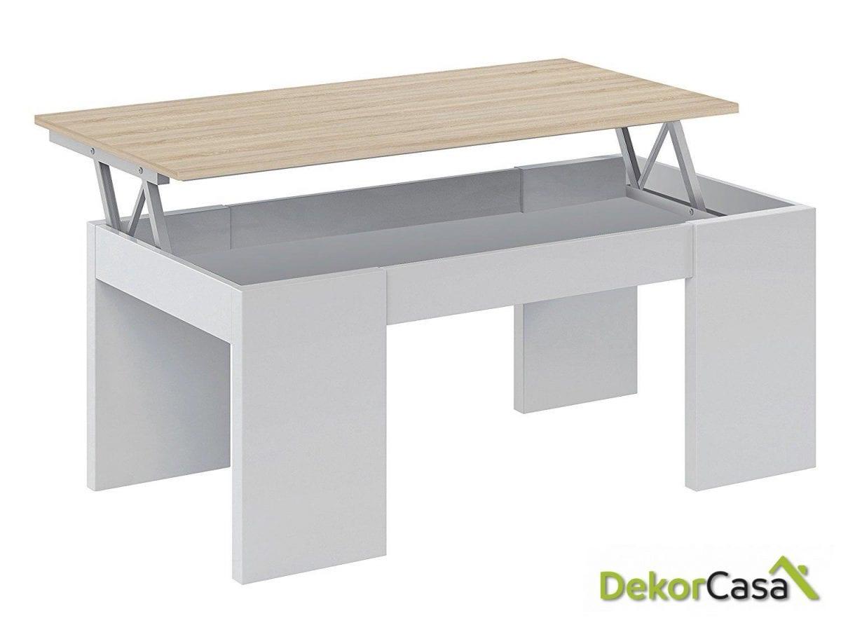 mesa elevable blanco roble dekorcasa