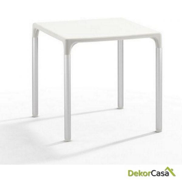 Mesa ELIANA, aluminio, polipropileno color blanco