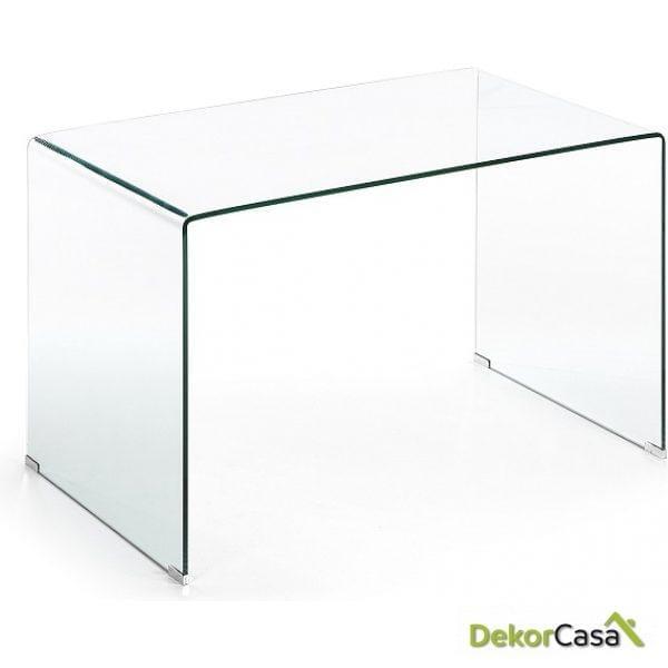 MESA ESCRITORIO BURANO Cristal Transparente