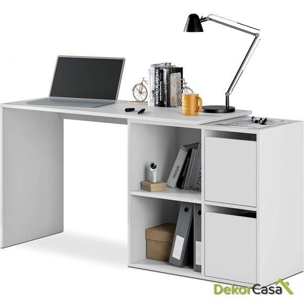 Mesa escritorio multiposición Blanco