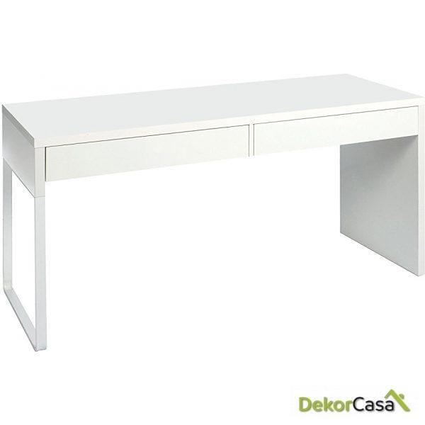 Mesa escritorio reversible con 2 Cajones
