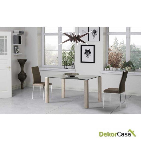 Mesa rectangular Denia 120 x 80 x 75 cm