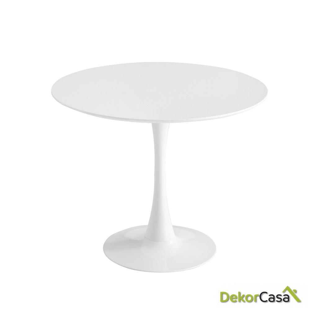 MESA redonda blanca  de 90 cm