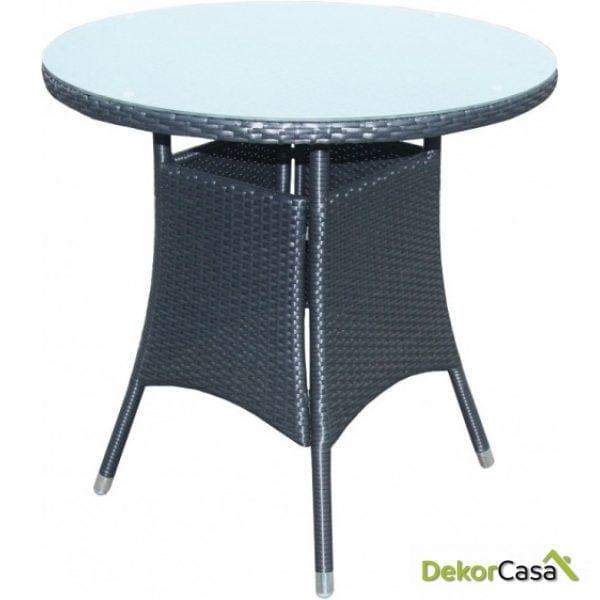 Mesa Remo rattan negro