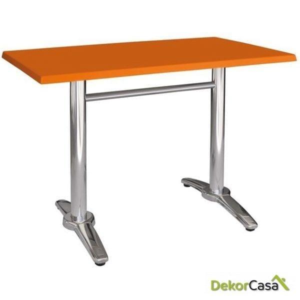 Mesa ROMAT-110, aluminio, tapa topalit - mono - 110 x 70 cms