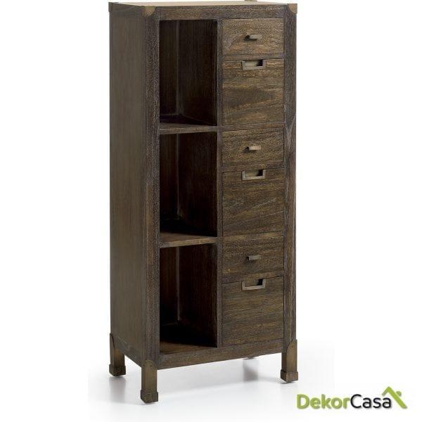 Mueble auxiliar Industrial 55 x 35 x 130 cm