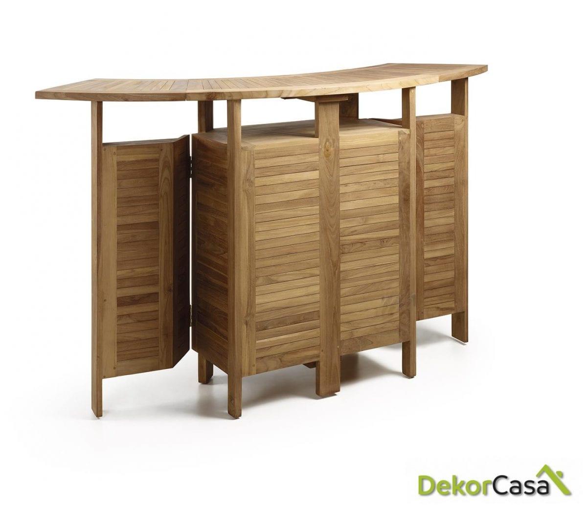 Mueble bar jardín plegable 98/180 x 70 x 106 cm