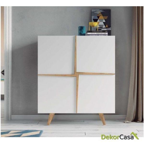 Mueble cubo Aspen 100x42x127H