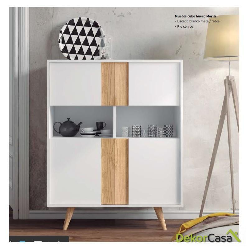 Mueble cubo Moritz 100x42x127H