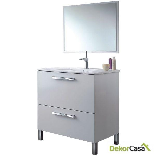 Mueble lavabo 1puerta ABAT. + 1Cajon + espejo + LAVABO