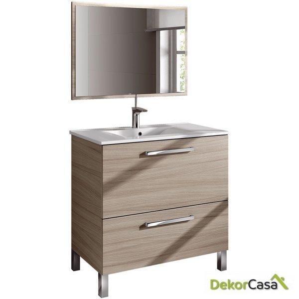 Mueble lavabo 80 x 80 x 45cm + espejo + LAVABO