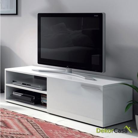MUEBLE  TV Blanco Brillo 130 cm