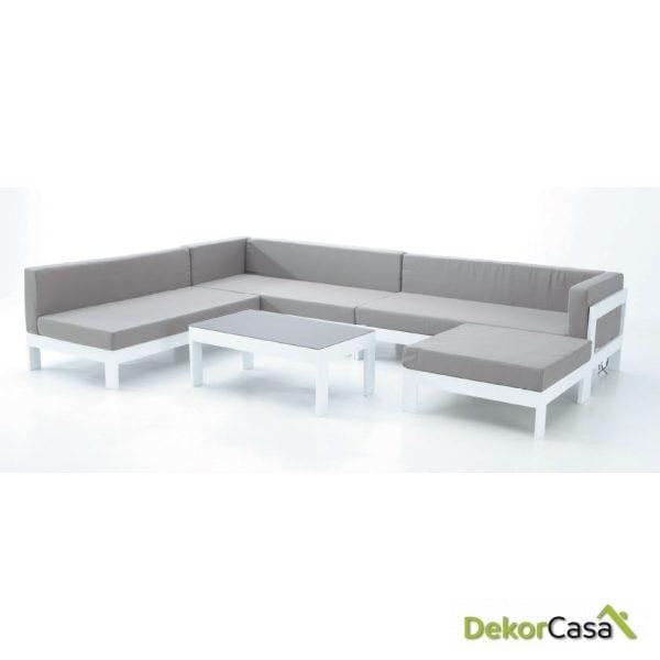 Otoman de sofá modular Laos 86,5 x 86,5 x 58 cm
