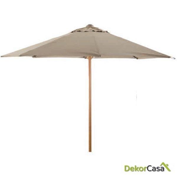Parasol aluminio imitacion madera chocolate 300cm