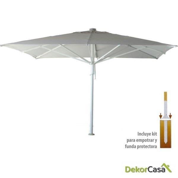 Parasol avenida kit para empotrar funda 3x3