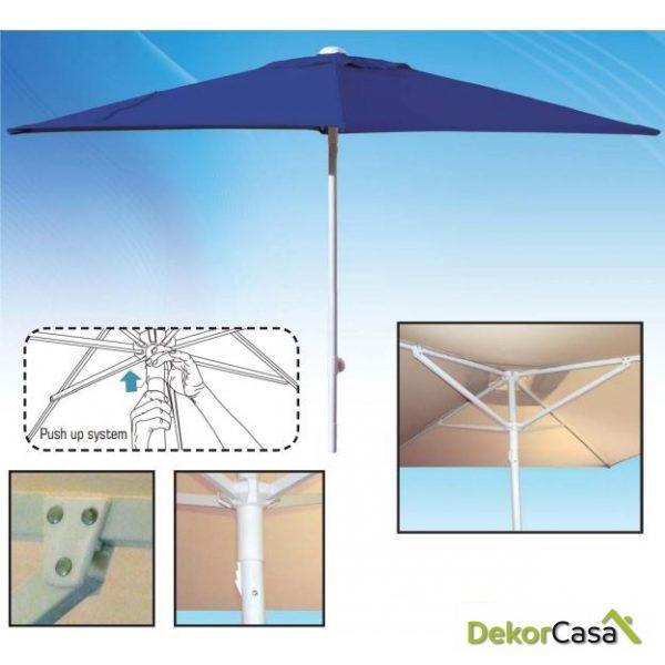 Parasol de aluminio 2x2m