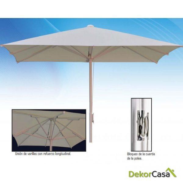 Parasol de aluminio Heavy Duty 2x3m