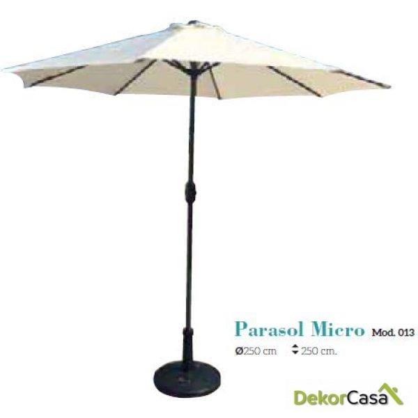 Parasol de aluminio Micro 250 x 250 x 250 cm