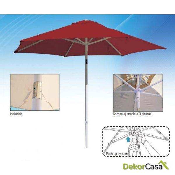 Parasol de aluminio Ø2,5m