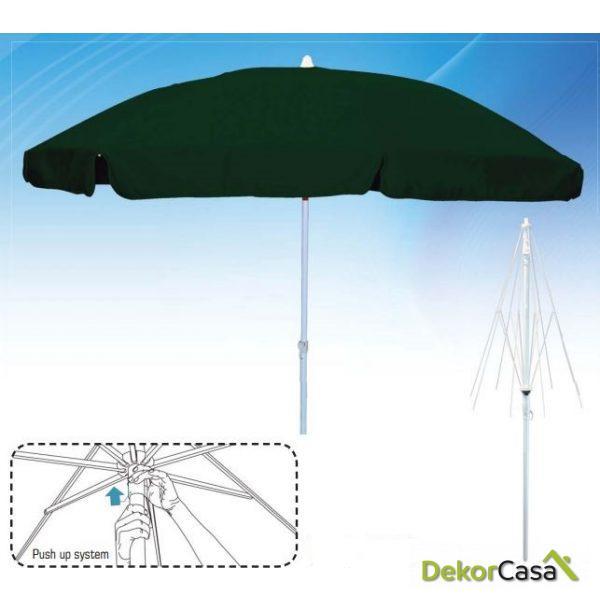 Parasol de aluminio Ø2m