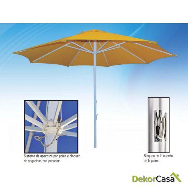 Parasol de aluminio Ø3m