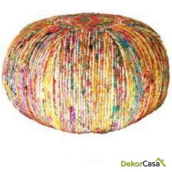 Puff Multicolor 60 x 60 x 30 cm