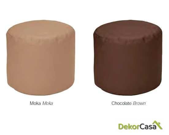 puff redondo moka chocolate