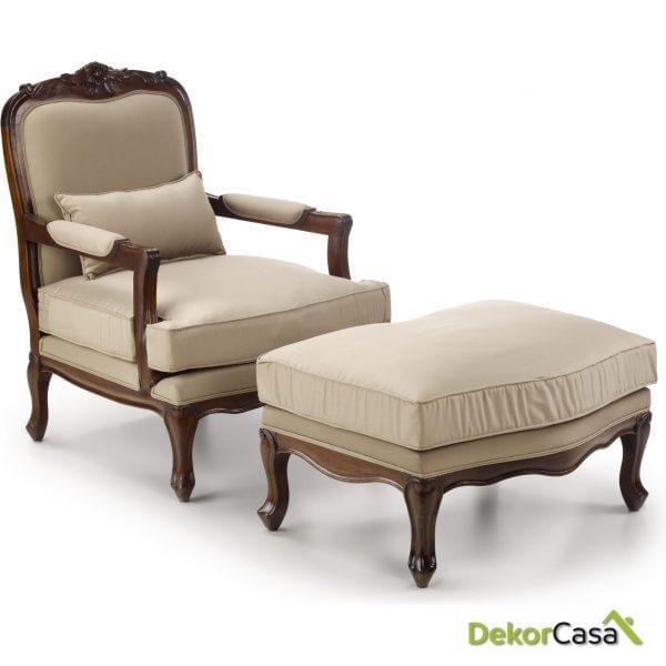 Reposapies para sillón Vintage Victory 75 x 55 x 40 cm