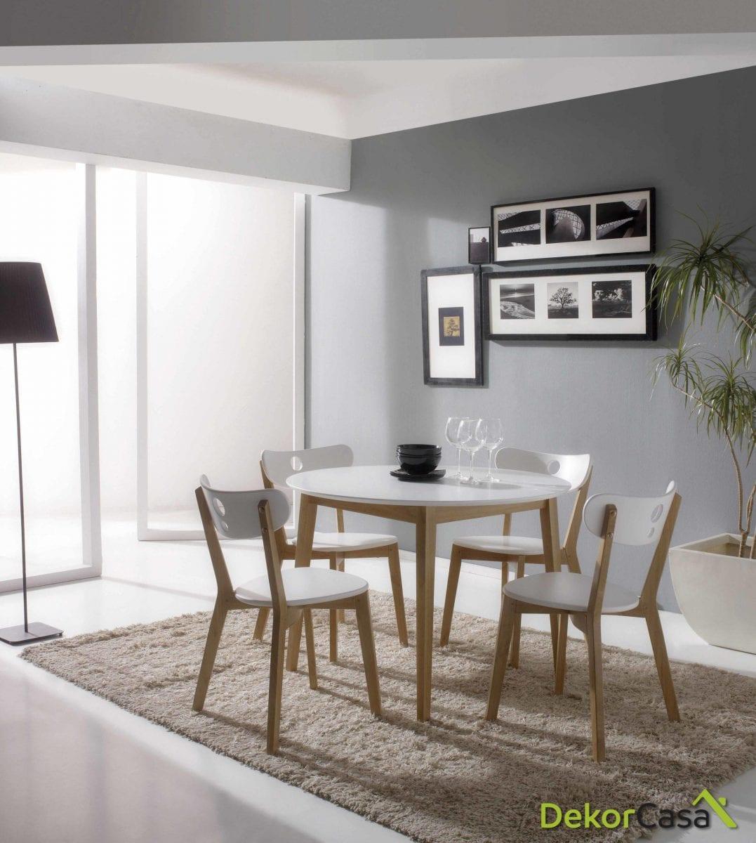 Set de comedor Aida (Mesa+ 4 sillas)