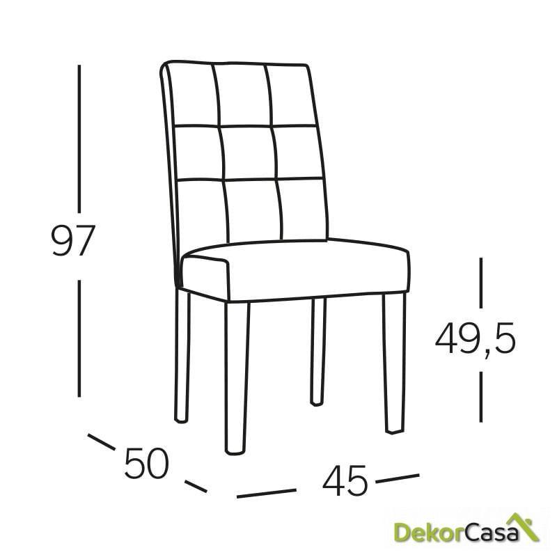 silla alma capitone blanca 2 1